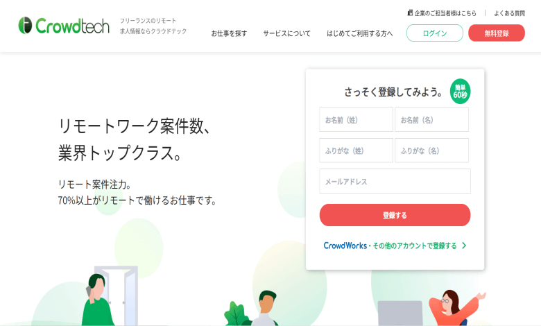 Crowdtech ホームページ